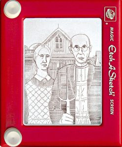 Jeff Gagliardi Etch-A-Sketches - American Gothic