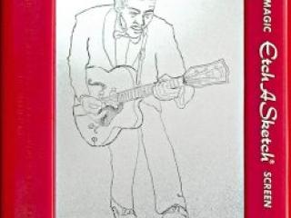 Jeff Gagliardi Etch-A-Sketches - Chuck Berry