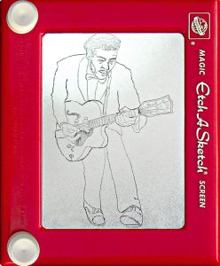 Jeff Gagliardi Etch-A-Sketches - Chuck Berry
