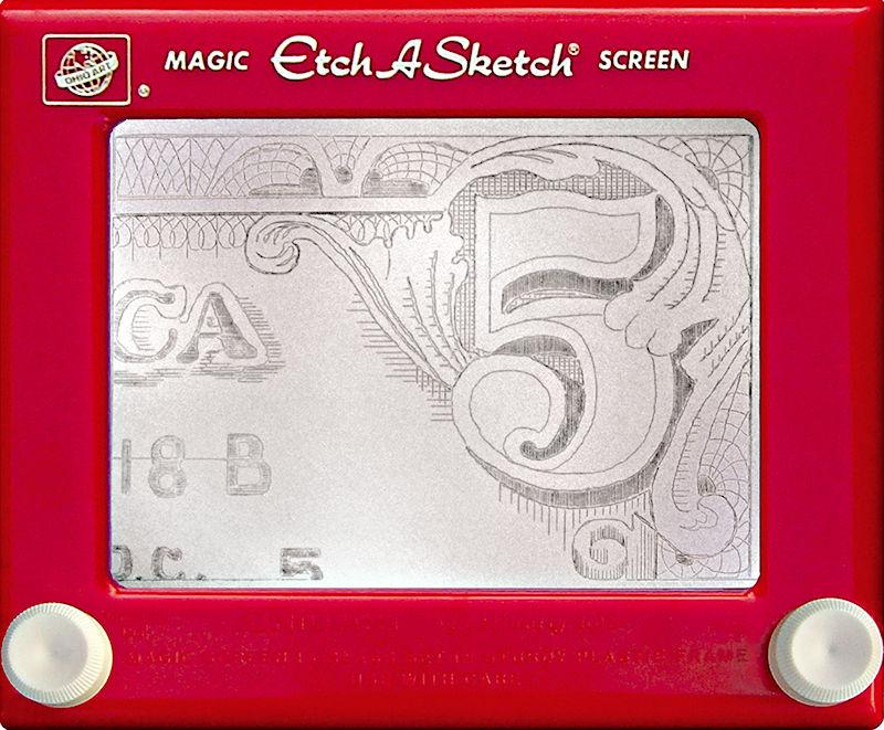 Jeff  Gagliardi Etch-A-Sketches - Five