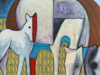 Jeff Gagliardi Fine Art Two Horses
