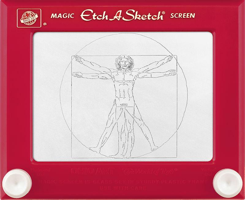 Jeff  Gagliardi Etch-A-Sketches - Vitruvian Man