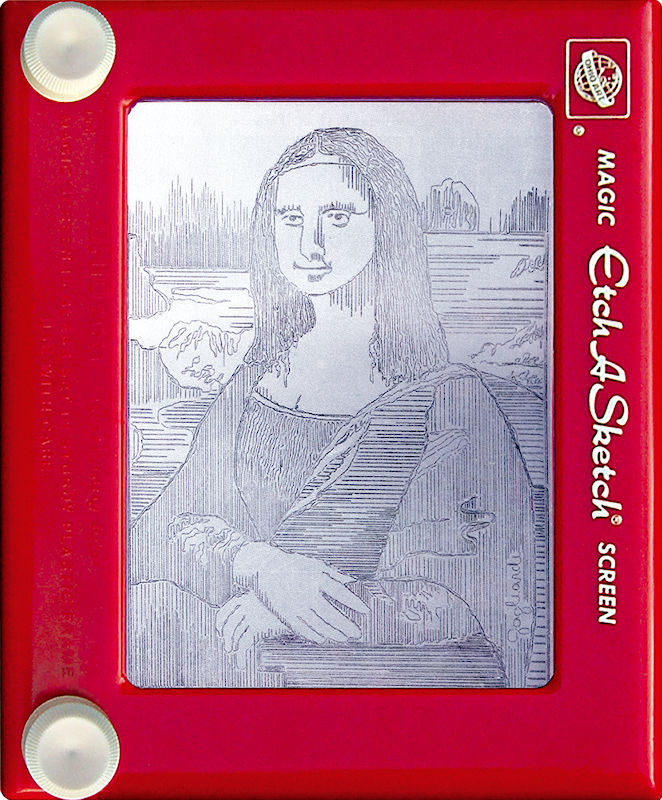 Jeff Gagliardi Etch-A-Sketches - Mona Lisa