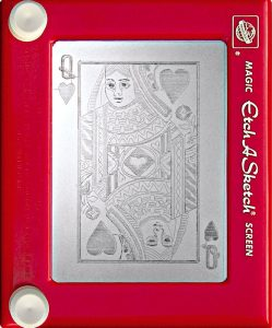 Jeff  Gagliardi Etch-A-Sketches - Queen of Hearts