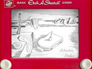 Jeff  Gagliardi Etch-A-Sketches - Salvador Dali