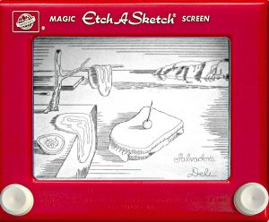 Jeff  Gagliardi Etch-A-Sketches - Salvador Dali