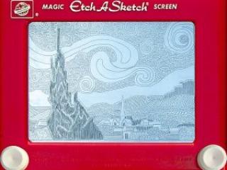 Jeff Gagliardi Etch-A-Sketches - Starry Night