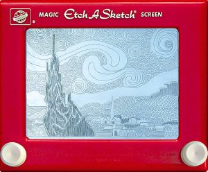 Jeff Gagliardi Etch-A-Sketches - Starry Night