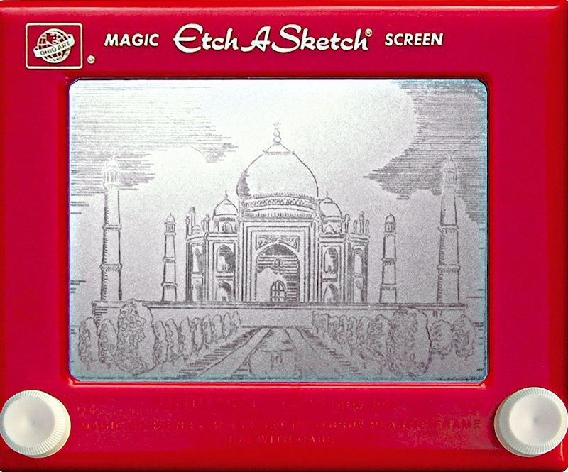Jeff Gagliardi Etch-A-Sketches - Taj Mahal