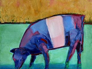Jeff Gagliardi Fine Art: Blue Cow