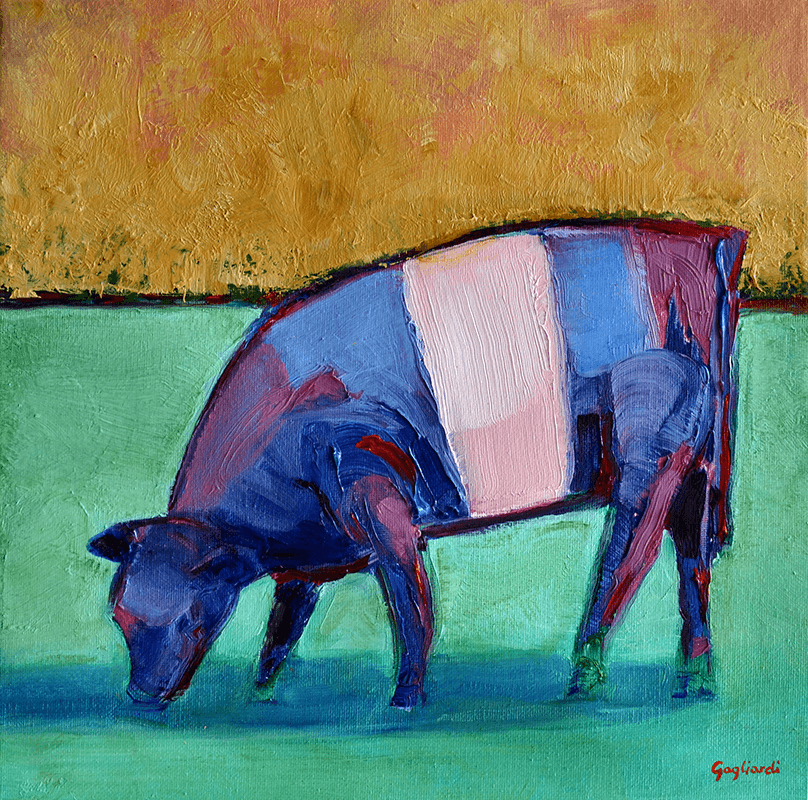 Jeff Gagliardi Fine Art: Blue Cow